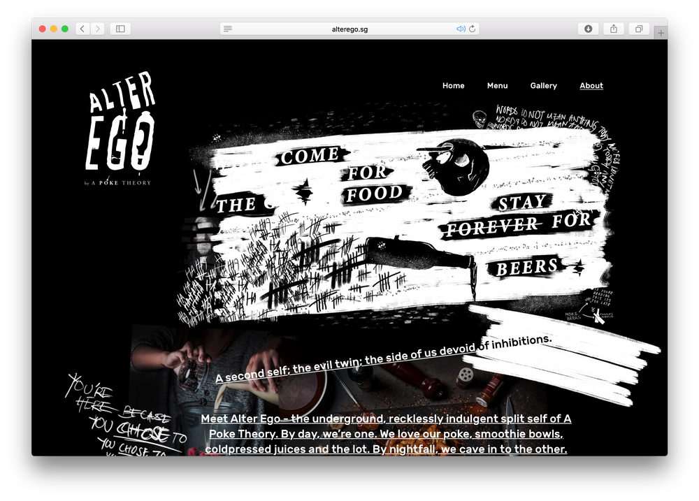 Alter ego raphael ong alter egos website embraces visual chaos and anarchy breaking out of the often restritive grid focused layout of websites in favor of more visceral voltagebd Gallery