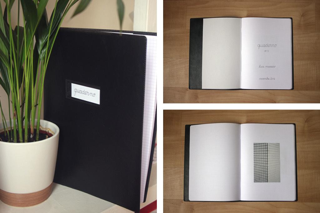 0A QUADERNO 2012 handmade unique artist book